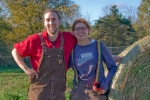 Owen Roberts and Sina Wagner, owners of Four Seasons Farm in Maitland, NS