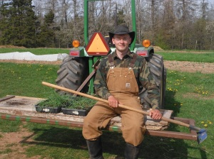 Anthony Sparrow, 2014 Grow A Farmer Apprentice at Dunn Creek Farm, Murray Harbour, PE.