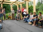 New, experience and aspiring farmers gather at Broadfork Farm - July 2011