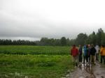 A group of apprentices tour Jemseg River Farm - August 2011.