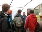 Michael Carr provides a tour of Jemseg River Farm to aspiring farmers in August 2011.