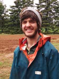 Mitchell Gallant, 2014 Grow A Farmer Apprentice at Red Soil Organics, Brookfield, PE.
