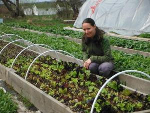 Suzana Herceg, 2014 Grow A Farmer Seed Apprentice, Hope Seeds, Granville Ferry, NS.